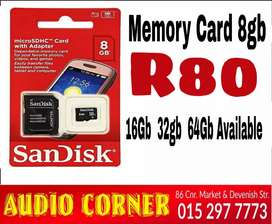 Memory Card 8gb Camera and phone