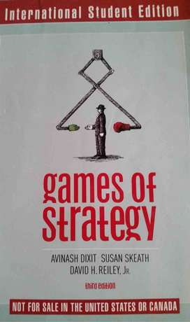 Games of strategy textbook for sale - 3rd edition