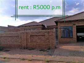 House to rent at vosloorus ext 14
