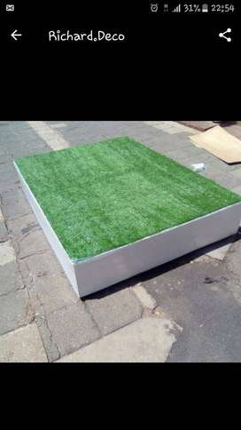 Stage with grass top
