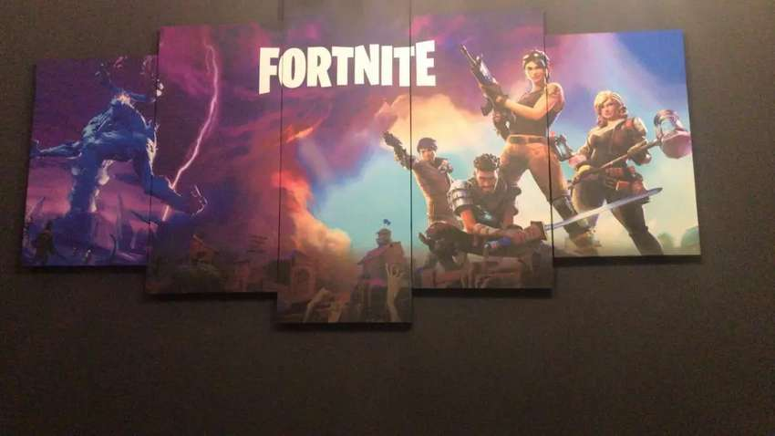 Fortnite mounted canvas