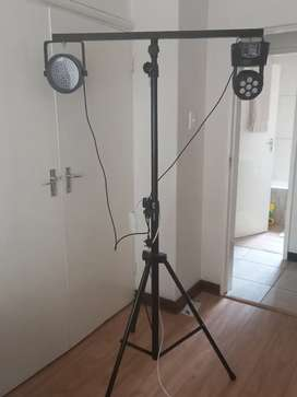 Disco Light Stand | Two professional disco lights INCLUDED