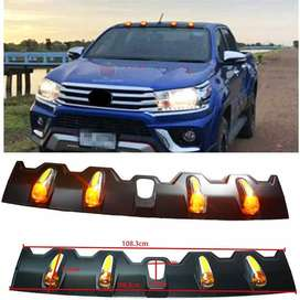 ROOF PLATE LED LIGHTTING LIGHTS ROOF RACK COVER FIT FOR HILUX REVO ROC