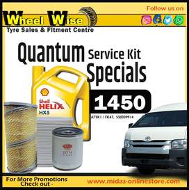 Quantum Service Kit Specials ONLY R1450 at Wheel Wise!