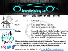 Mercedes Benz Technician (Motor Industry) Northern Cape