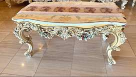 Lo Stile Di Classe Rectangular Table with Crystal Top