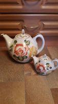 Набор керамических чайников заварочник и чайник керамика роспись