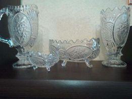 Набор хрустальной посуды из 4 предметов.