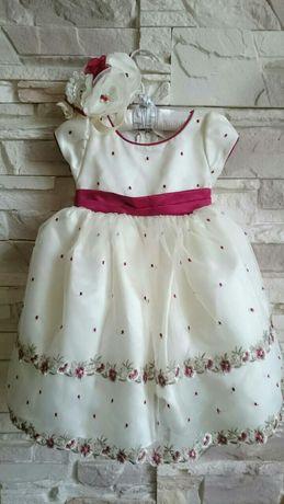 Плаття на рочок + повязка.Плаття для дівчинки Дрогобыч - изображение 1