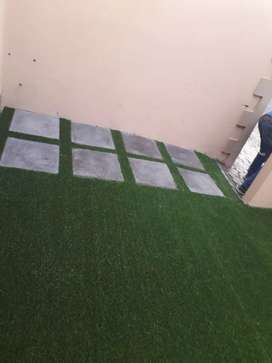 Artificial grass paving pebble stone