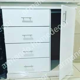 New white large chest of drawers with hanger