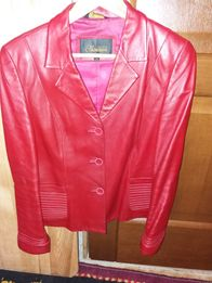 Пиджак кожаный р.46