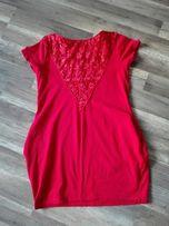 Sukienka ciążowa z wstawką z koronki XL