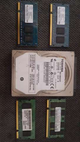 Laptop hard drive and ram