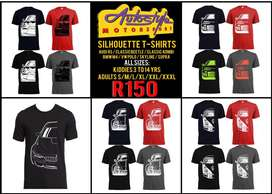 Silhouette t shirts and original VW Volkswagen GTI gear, Ferrari perfu