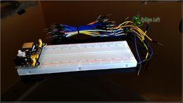 Zestaw zasilacz płytka MB102 kable 65szt ARDUINO