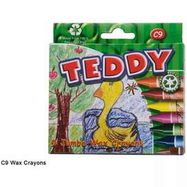 New Teddy Jumbo crayons 9 boxes for R200