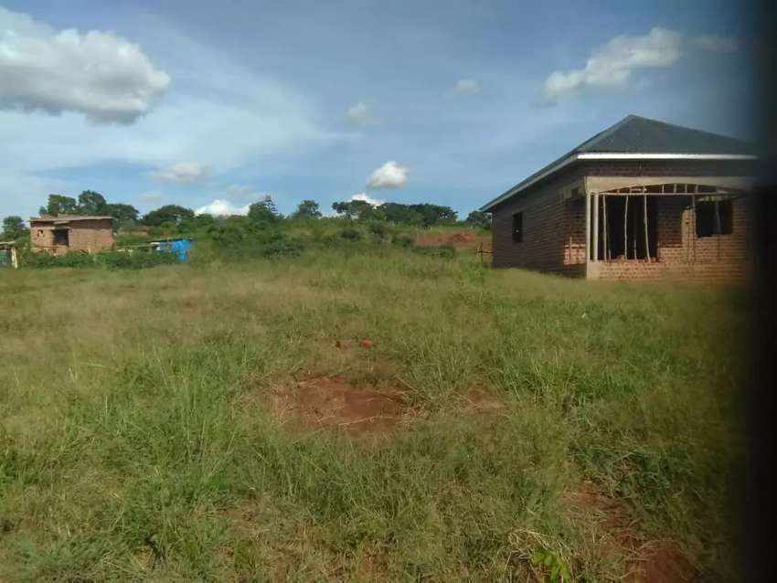 Very nice plot with a very good view on quick sale in buloba near main 0