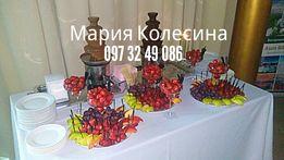 Фруктовые композиции,торт из фруктов,шоколадный фонтан
