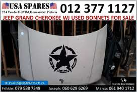 Jeep Grand Cherokee 2.7/4.7/2.7 WJ 1999-04 used bonnets for sale