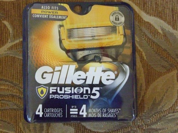 Лезвия Gillette Proshield отличного качества ОРИГИНАЛ пр-во СШA