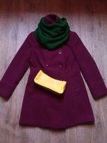 Женское теплое зимнее пальто,80% шерсти