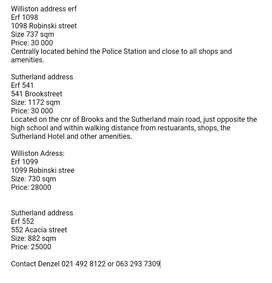 Sutherland plots for sale