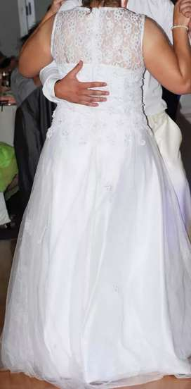 Cream suite and wedding dress for sale