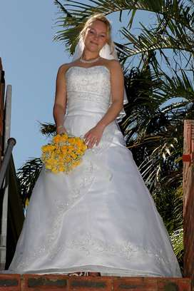 One-of-a-kind wedding dress for sale
