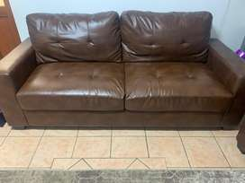 Two 3 seater couches