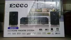 Ecco 2.0 Home Theatre System-DVD PLAYER+FM RADIO Mp3/USB/SD/LED-MV88J3
