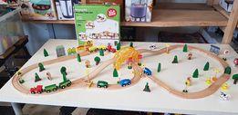 Zestaw pociąg drewniany 80 elementów Nowy!!!Okazja!!!