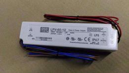 Zasilacz Mean Well LPV-60-12, 12V 5A, 60W, IP67, nowy