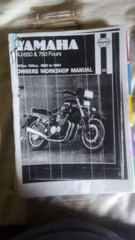 Xj 650 and 750 work shop manual