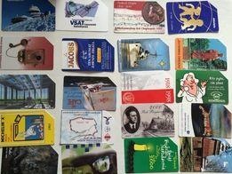 kolekcja, zbiór, karty telefoniczne