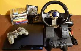 Playstation 3 slimline 160GB & Steering wheel