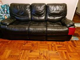 Second hand leather lazy boy couch