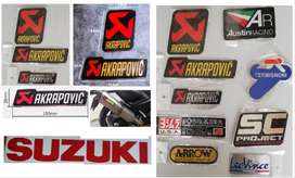 Suzuki Akrapovic aluminium exhaust decal badge decal emblem