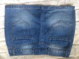 dżinsowa spódniczka mini niebieska sinsay