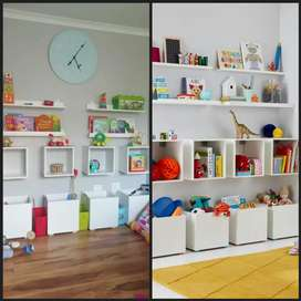 Storage solutions - Cubby holes - Shelfing - Crates - Toy boxes