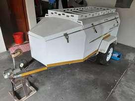 Camp-combo. Trailer with camping gear and accessories. Price neg.