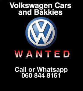 Any make and model of Volkswagen vehicles wanted.