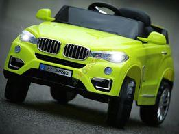 Auto na akumulator BMW 2 silniki miękkie koła BMW X6 pilot 2.4Ghz