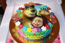Вафельная картинка на торт