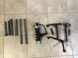 BMW F650GS stopka, kosa, amortyzator, obniżenie zawieszenia