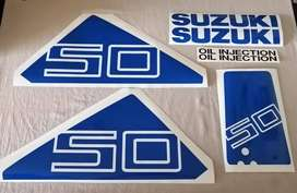 Suzuki DT50 outboard motor decals stickers graphics