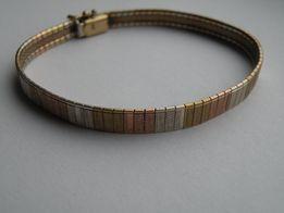 ładna złota bransoletka proby 333