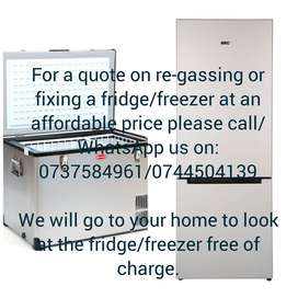 Fridge/Freezer re-gas and repair