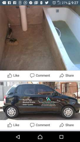 Achiemplumbers and cleaning tilling