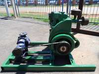 Image of 1 Cylinder Lister Diesel Engine With Water Pump Good Condition Geralde